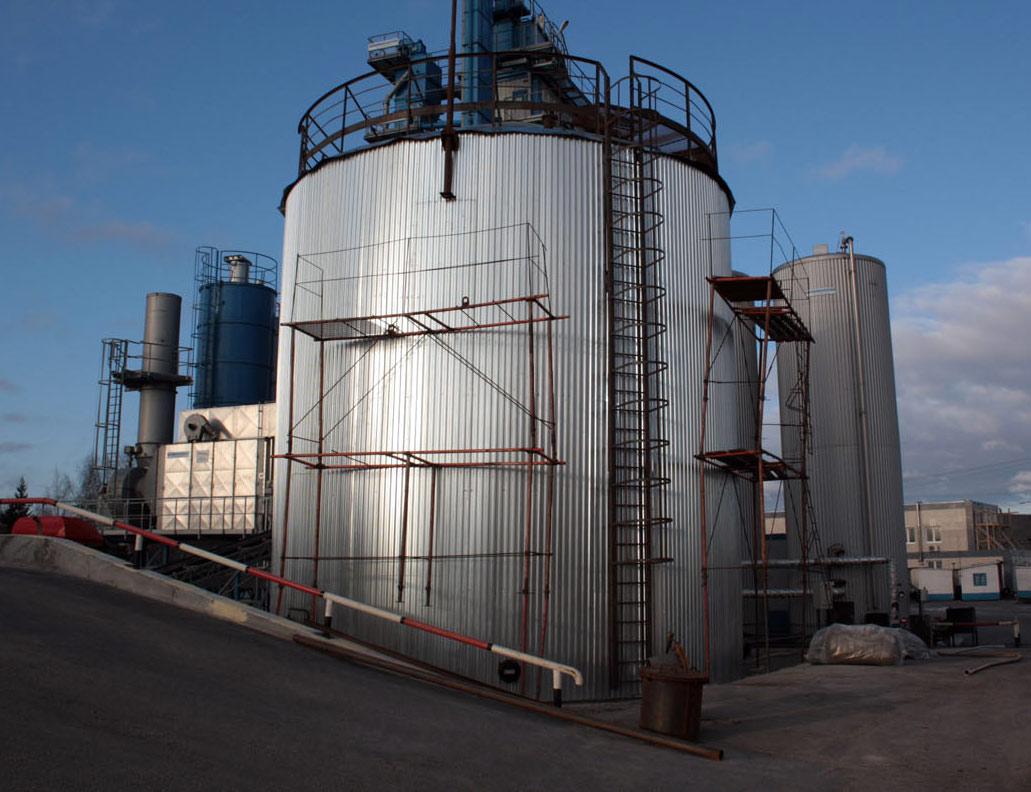 Стальной вертикальный резервуар объёмом 500 кубометров