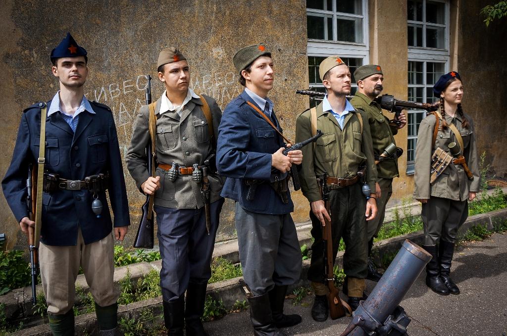 Исторический театр «Порубежье» реконструирует движение югославских партизан