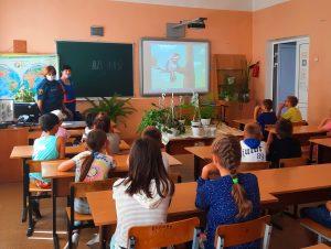 В Сафонове воспитанникам детского лагеря напомнили о пожарной безопасности